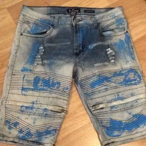 Bull denim jean shorts size 34 inseem is 13 1/2